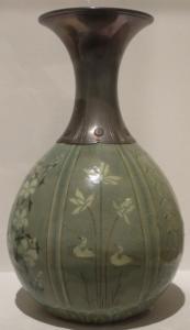 Bottle with flower design, Korea, Koryo_dynasty, ca.13th c.