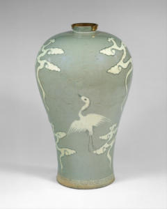 KR_Maebyeong decorated with cranes and clouds | Korea | Goryeo dynasty (918–1392) | The Met-1600px