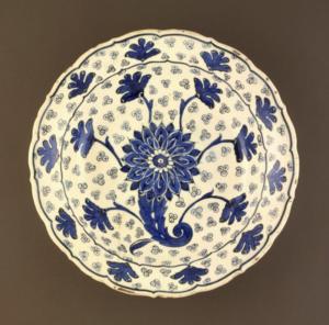 Plate Turkey, Iznik, circa-1550-60