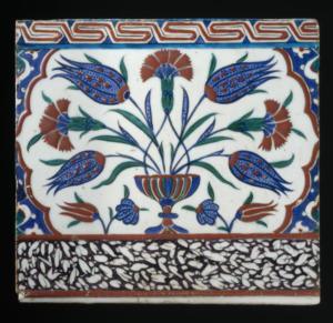 Tile Turkey, Iznik, circa 1580-90