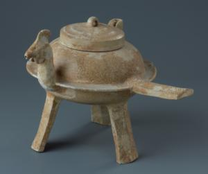 Tripode chiaohu à bec verseur en forme de tête de coq
